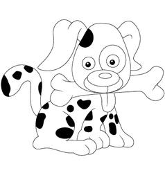 cute dog sketch vector image vector image