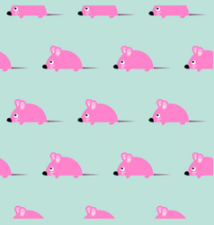 cute kid mice design seamless pattern vector image vector image
