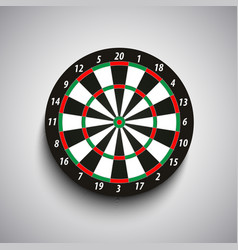 Dart board with green and red fields template vector image vector image