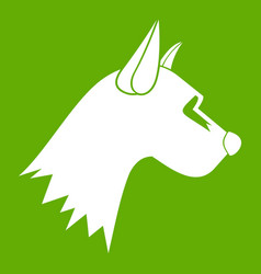 dog icon green vector image