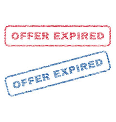 offer expired textile stamps vector image
