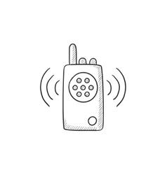 Radio set sketch icon vector image