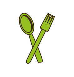 spoon fork cutlery kitchen cooking image vector image vector image