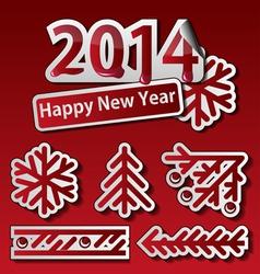 2014 set 1 vector image vector image