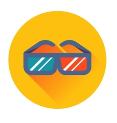 Cinema glasses icon vector image