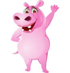 Female hippo vector image vector image