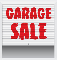 garage sale poster banner template vector image