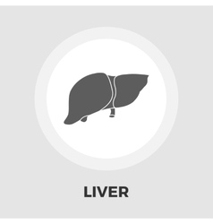Liver flat icon vector image vector image