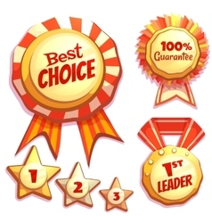 Set of colored brightly badges vector