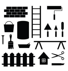 tool construction set vector image