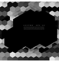 Abstract color 3d hexagonal vector