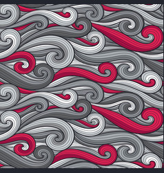 abstract wavy lines seamless pattern floral vector image