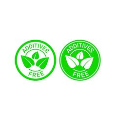 additives free sign or stamp symbol vector image