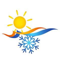 Air conditioning symbol vector