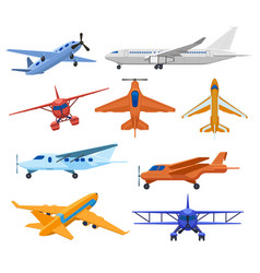 aircraft jets flight vehicles passenger jet vector image