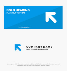 arrow up left solid icon website banner and vector image