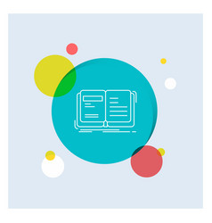 Author book open story storytelling white line vector