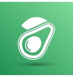 Avocado and healthy fruit design vector