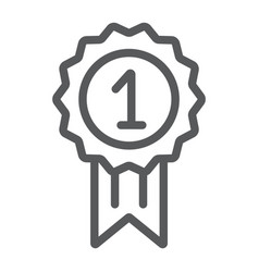 award line icon badge and prize medal sign vector image