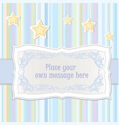 Baby toy lacy frame greeting card decor kids vector