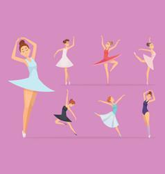 ballet dancers girl ballerina woman happy vector image