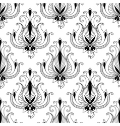 Beautiful floral arabesque seamless pattern vector