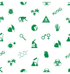 biology icons seamless pattern eps10 vector image