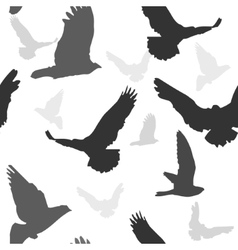 Birds background seamless pattern vector