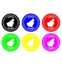 Borneo rubber stamp vector