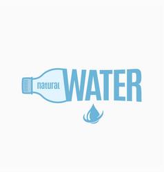 bottle water design water logo on white vector image