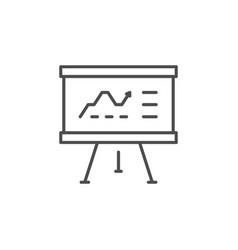 business presentation line outline icon vector image