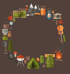 Camping and Hiking Lifestyle Background vector