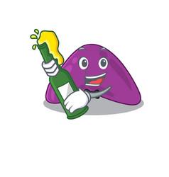 Caricature design concept adrenal cheers vector