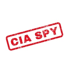 CIA Spy Text Rubber Stamp vector