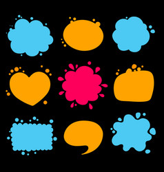 colorful empty speech balloon collection vector image
