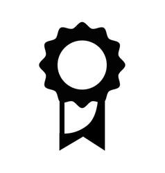 Contour school medal symbol to intelligent student vector