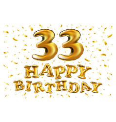 decoration for 33 years birthday anniversary vector image
