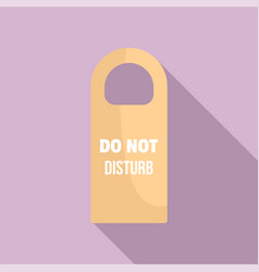 Do not disturb room tag icon flat style vector
