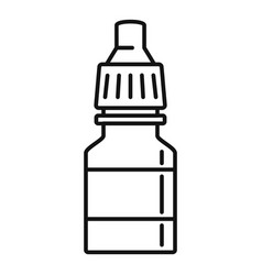 Drop bottle icon outline style vector