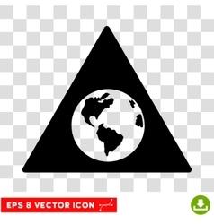 Earth Warning Eps Icon vector