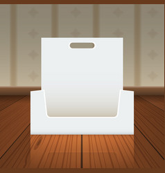 Empty cardboard or visit card display box with vector