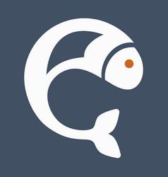 Fish logo template creative symbol of fishing vector