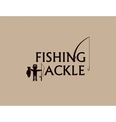 Fishing tackle background vector