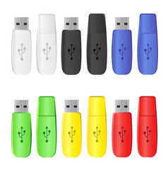 flash drive collection vector image