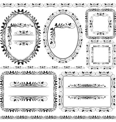 Frames borders and ornaments vector