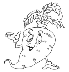 Fresh carrot cartoon vector