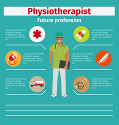future profession physiotherapist infographic vector image