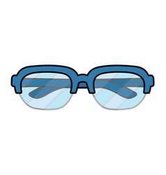Glasses view cartoon vector