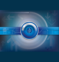 Graphic background of digital technology vector