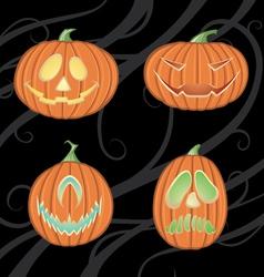 Halloween jack o lanterns vector